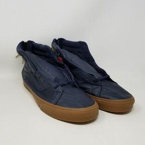 Vans Sk8-Hi Reissue Zip Navy Sneakers Men's Sz 13